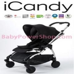 英國iCandy Raspberry 嬰兒手推車 (黑色/銀色車身) Chrome