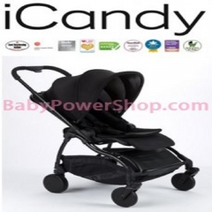 英國iCandy Raspberry 嬰兒手推車 (黑色/黑色車身) Black