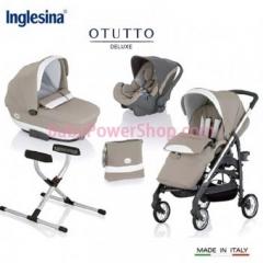 意大利Inglesina Otutto Deluxe 超豪華五件式手推車 (卡其)