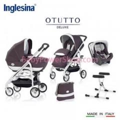 意大利Inglesina Otutto Deluxe 超豪華五件式手推車 (灰紫)