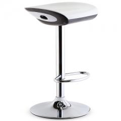 歐式吧椅時尚吧檯椅收銀升降高腳凳前台旋轉吧凳簡約凳子靠背椅子 鏡面底盤三級氣桿白色