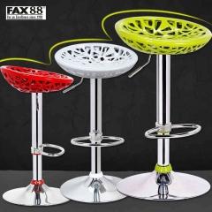 FAX88 吧檯椅 歐式時尚 吧椅 酒吧椅 高腳椅升降椅 前檯椅吧台凳 素雅白