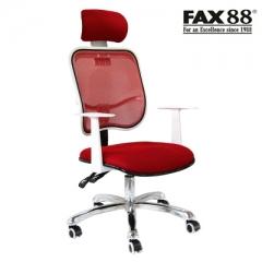 電腦椅家用轉椅 人體可躺座椅擱腳網布椅子學生宿舍椅護腰辦公椅 紅色 鋁合金腳