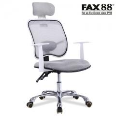 電腦椅家用轉椅 #110767 人體可躺座椅擱腳網布椅子學生宿舍椅護腰辦公椅 淺灰色