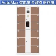 AutoMax 智能拍卡儲物櫃 寄存櫃 12門啡色
