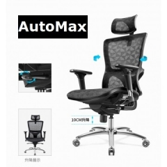 AutoMax 辦公椅 大班椅 經理椅 書房椅 皇者系列 3329 銀灰色