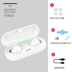 Amoi/夏新 F9藍牙耳機無線雙耳超小迷你隱形耳塞式入耳式運動跑步 時尚白
