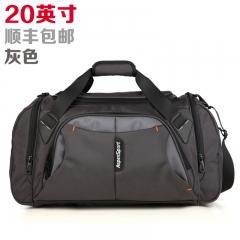 艾奔大容量單肩手提旅行包男女行李包斜跨旅行袋短途旅游健身包 灰色20英吋