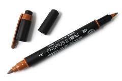 Uni PUS-101T 雙頭螢光筆 PROPUS 2 啡色