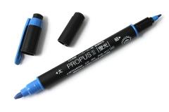 Uni PUS-101T 雙頭螢光筆 PROPUS 2 藍色
