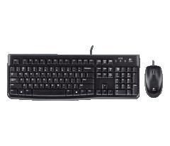 Logitech 鍵盤滑鼠套裝 有線 MK120