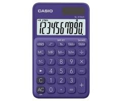 CASIO SL-310UC 攜帶式計數機 馬卡龍色計算機 (10位) 紫色