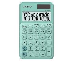 CASIO SL-310UC 攜帶式計數機 馬卡龍色計算機 (10位) 綠色
