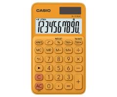 CASIO SL-310UC 攜帶式計數機 馬卡龍色計算機 (10位) 橙色