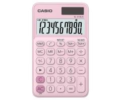 CASIO SL-310UC 攜帶式計數機 馬卡龍色計算機 (10位) 粉紅