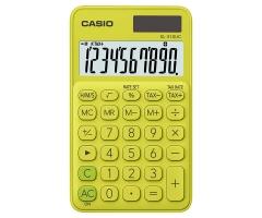 CASIO SL-310UC 攜帶式計數機 馬卡龍色計算機 (10位) 黃色
