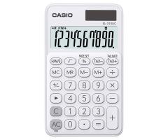 CASIO SL-310UC 攜帶式計數機 馬卡龍色計算機 (10位) 白色