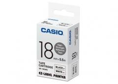 CASIO XR-9/12/18GWE高黏性標籤帶 Tape 白底黑字 XR-18GWE(18mm)