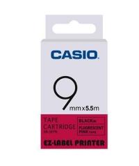 CASIO XR-9F(9mm) 螢光系列標籤帶 螢光粉底黑字XR-9FPK