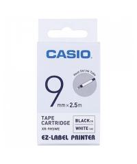 CASIO XR-9/18HSWE 熱縮套管 標籤帶 白底黑字 XR-9HSWE(9mm)