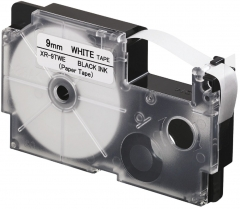 CASIO XR-9/12/18TWE 紙質標籤帶 白底黑字 XR-9TWE(9mm)