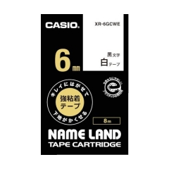 CASIO XR-6GC(6mm) Tape 高黏性標籤帶 黃底黑字 XR-6GCYW