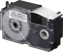 CASIO XR-24GC(24mm) Tape 高黏性標籤帶 銀底黑字 XR-24GCSR