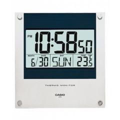Casio Clock ID-11S 溫度計 電子掛鐘 銀色 ID-11S-1