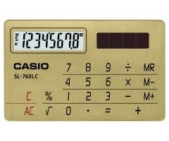CASIO SL-760LC 攜帶式計數機 計算機 (8位) 金色