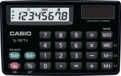 CASIO SL-787TV 攜帶式計數機 計算機 (8位) 黑色