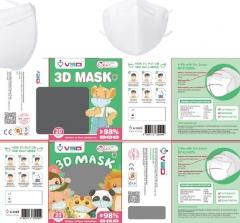 V3D 兒童 3D 口罩 3Ply 20個裝 藍色