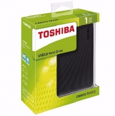 "Toshiba (Canvio) 2.5""  USB3.0 外置硬碟 黑色2TB"