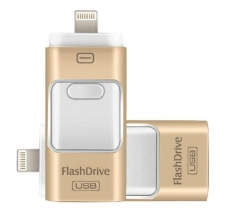 OTG 3in1 Flash Drive 三合一Iphone外置USB(2016最新) 32GB土豪