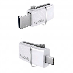 SanDisk USB FLASH DRIVE手指 ULTRA 32GB DUAL白 SDDD2