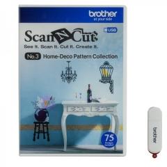 BROTHER ScanNcut 配件 No.3 75款家居裝飾圖案合集 (USB隨身碟) CAUS