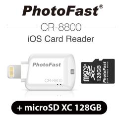 PhotoFast iOS Card Reader CR-8800 + miscroSD XC 12