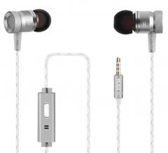 FAX88 重低音入耳式耳機 (G63带咪可通話) 太空銀