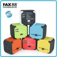 FAX88 JT376 旅遊插座/多功能轉换插頭 粉紅色