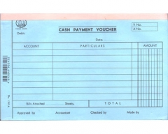 英文傳票 (打裝-12本) 1767A Cash Payment V