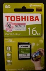Toshiba 16.0GB (Class 10)N202 SDHS SD CARD 80MB/S