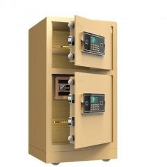 FAX88 防盜安全夾萬 FX804337 (雙層)尊貴黑/香檳啡/米黄色 米黄色
