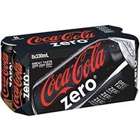 可口可樂汽水 ZERO 8x330ML