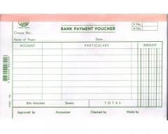 英文傳票 多個款式可供選擇 (打裝-12本) 1784A (Bank Payment)