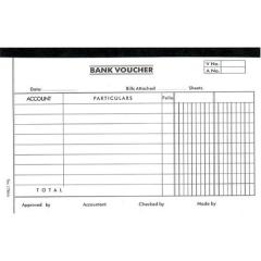 英文傳票 多個款式可供選擇 (打裝-12本) 1786A (Bank Voucher)