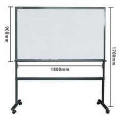 鋼化玻璃白板 磁性掛式寫字板黑板 會議辦公教學留言板防爆 90x180cm連支架