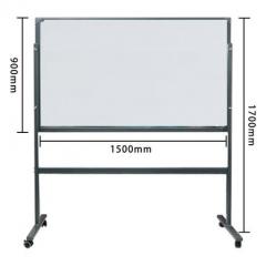 鋼化玻璃白板 磁性掛式寫字板黑板 會議辦公教學留言板防爆 90x150cm連支架