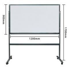 鋼化玻璃白板 磁性掛式寫字板黑板 會議辦公教學留言板防爆 90x120cm連支架