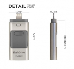 OTG 三合一Iphone外置USB 64GB銀色
