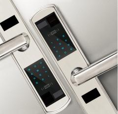 FAX88 KJ430 智能木門鎖 包上門安裝- 銀色
