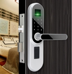 FAX88 KJ0501 智能室內木門鎖 包上門安裝 銀色